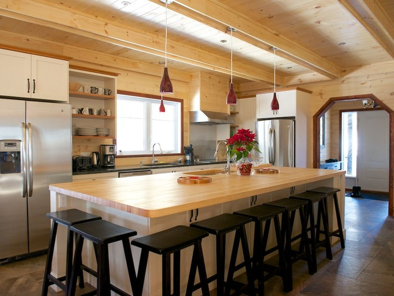 Big kitchen with central island